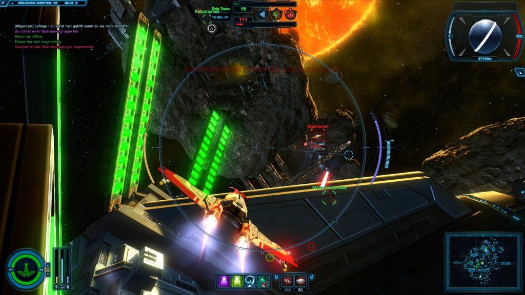 Galactic Starfighter Steuerung
