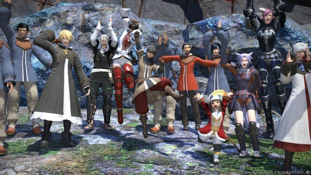 Final Fantasy XIV - Charaktere jubeln