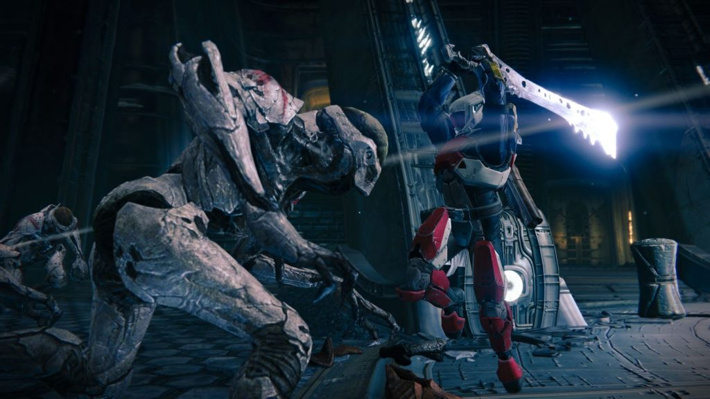 Destiny Kampf mit Schwert