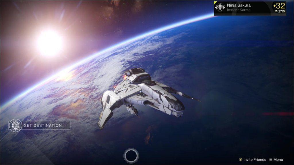 Destiny Toter Orbit Schiff