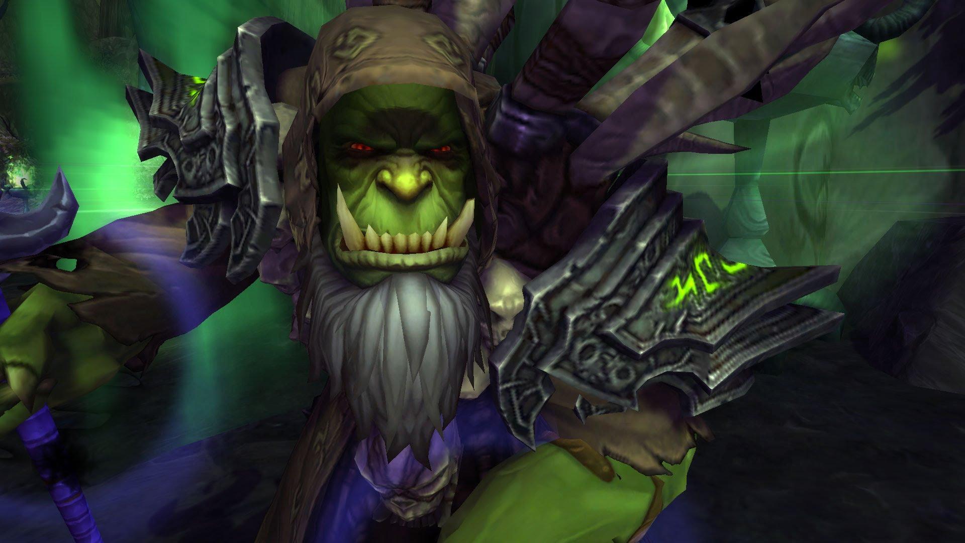 WoW Gul'dan Orc Warlock Fel