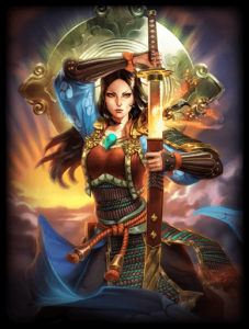 Amaterasu Cerulean Sky God Card
