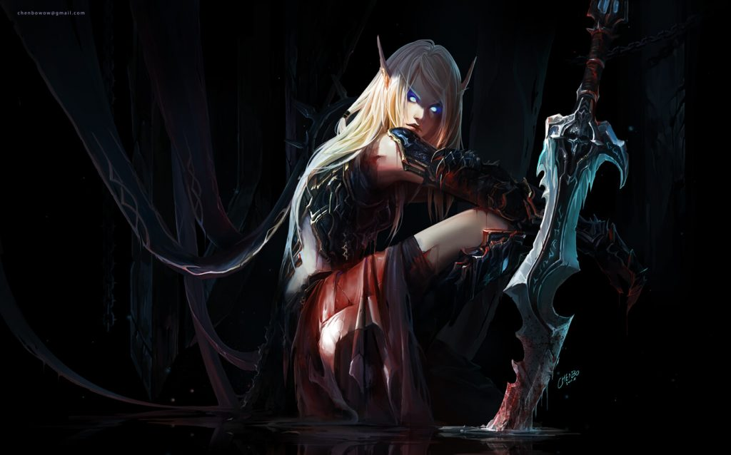 WoW Fanart Chenbo Blood Elf Deathknight