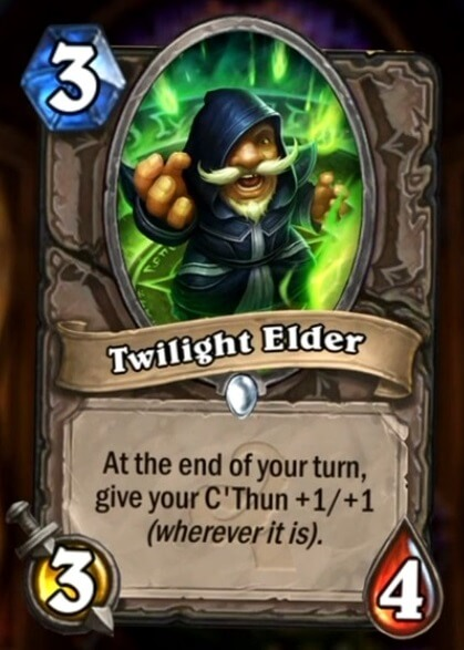 Hearthstone Wotog Twilight Elder