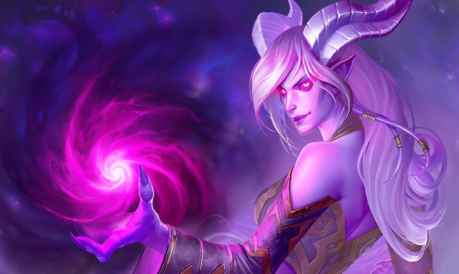 Hearthstone Draenei Embrace the Shadow Artwork Header
