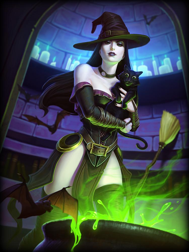 SMite God Card Aphrodite Witch