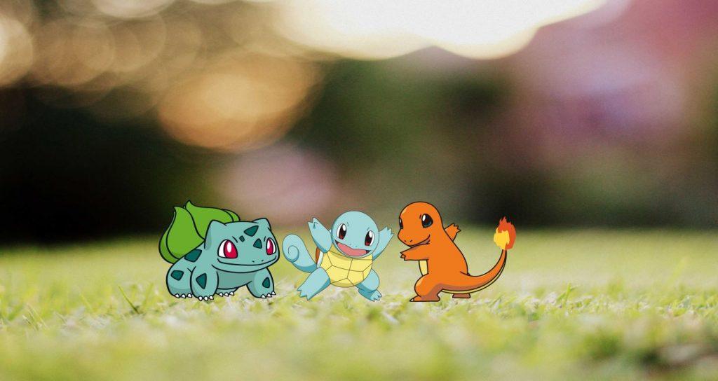 Pokemon Go Starter Pokemon Bisasam Schiggy und Glumanda