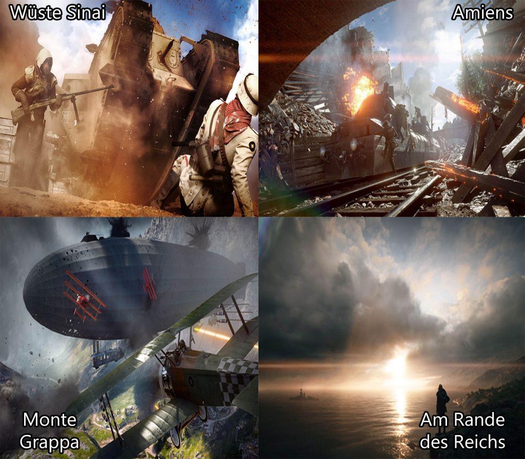 Battlefield 1 Karten Sneak Übersicht