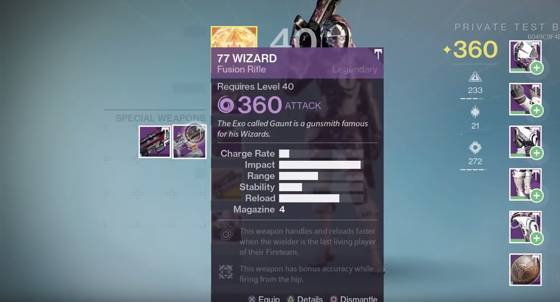 destiny 77 wizard rolls
