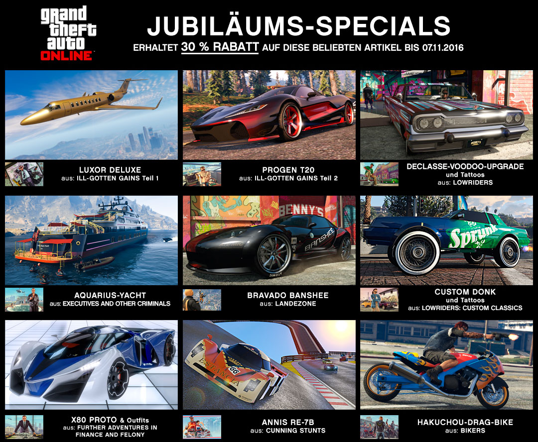 gta 5 online halloween update zum jubil um gibt 39 s geschenke mein. Black Bedroom Furniture Sets. Home Design Ideas