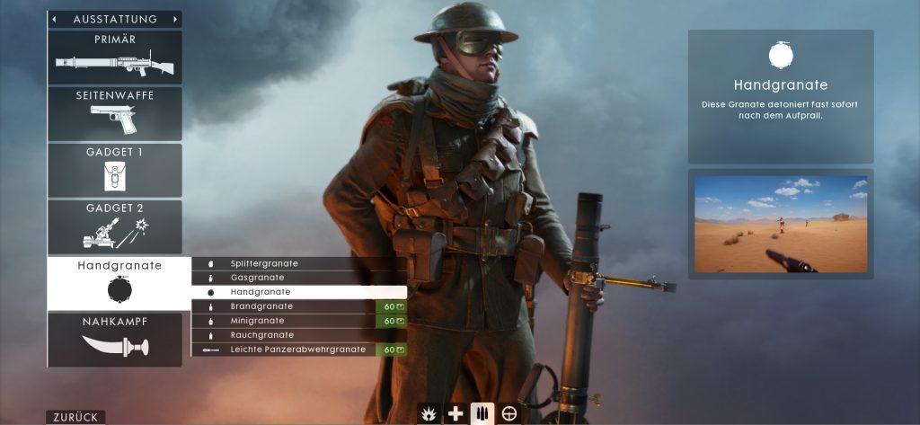 BF 1 Support Grenade