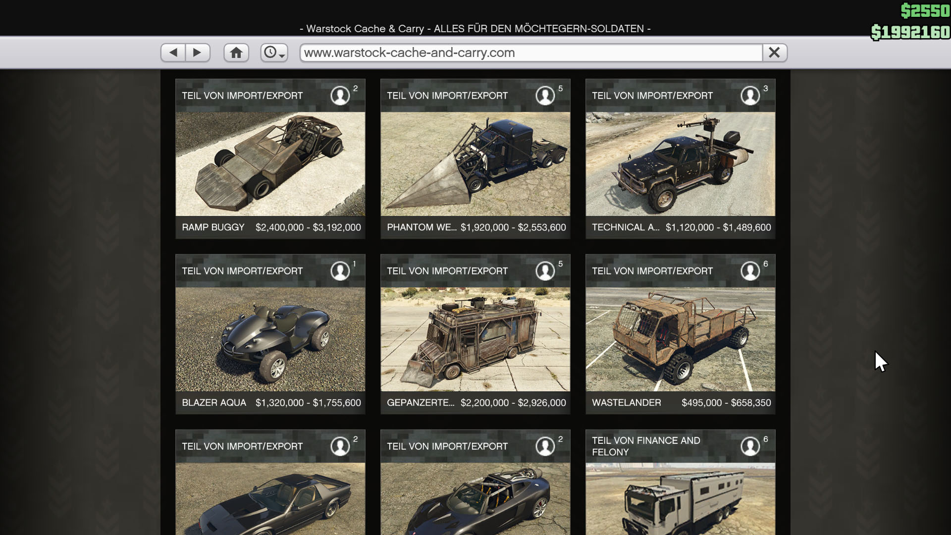 Gta Online All Car Prices