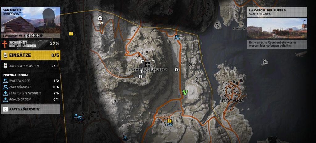 Ghost Recon Wildlands G28 Übersicht 2