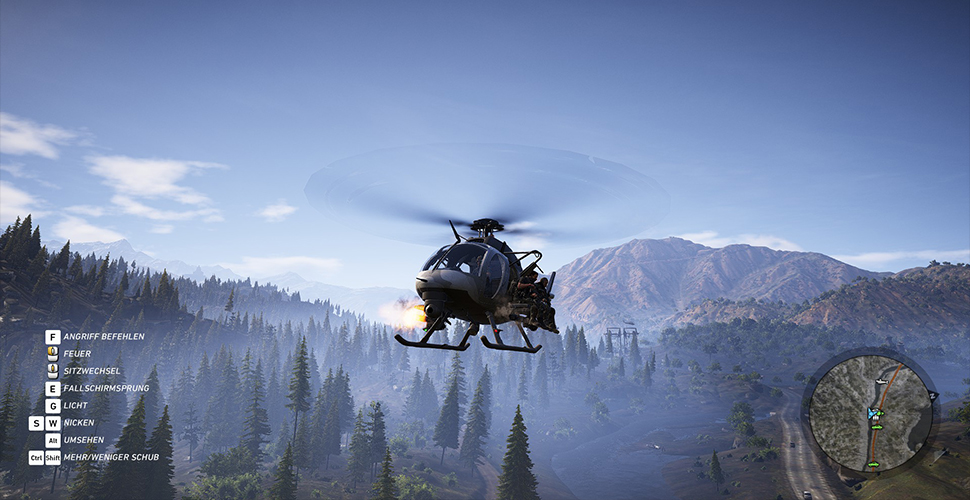Ghost Recon Wildlands bewaffneter Heli
