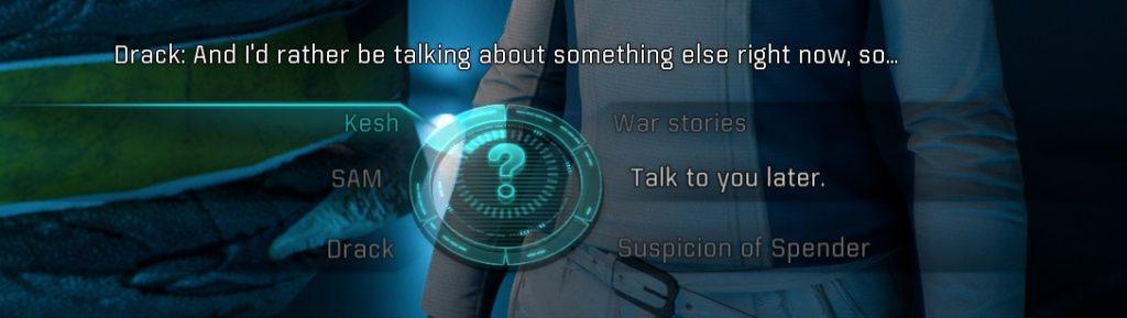Mass Effect Andromeda Dialogue Wheel
