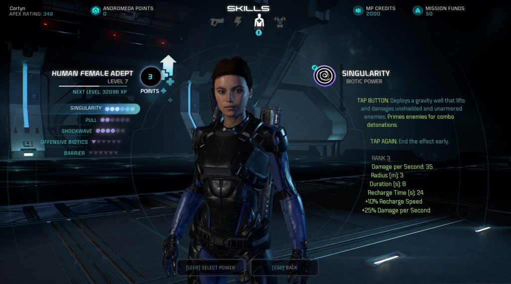 Mass Effect Andromeda Multiplayer Biotic Talents