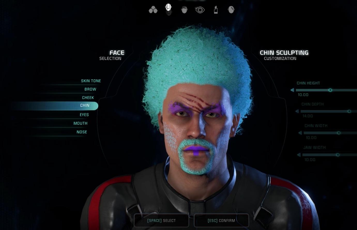 Mass Effect Andromeda Ryder Character Creator