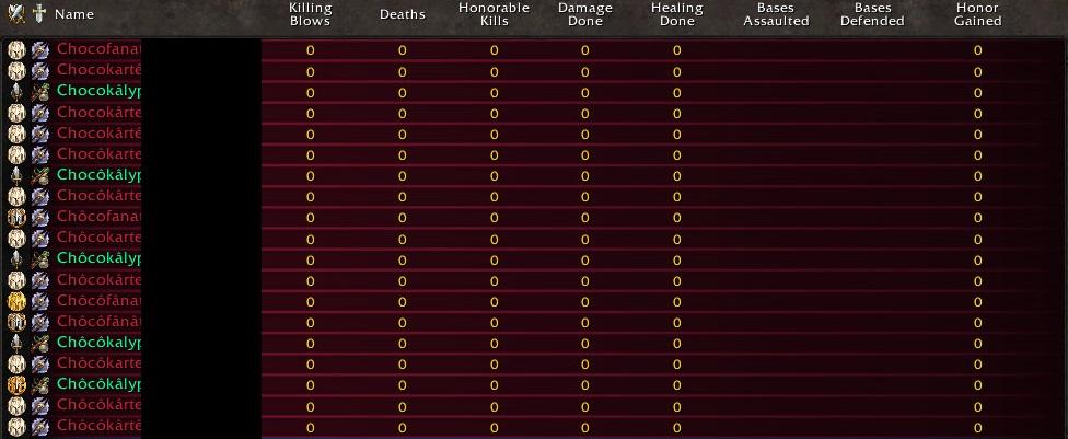 WoW Multiboxer Namensliste
