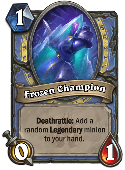 Hearthstone Frozen Champion