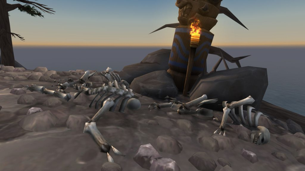 WoW Seltsame Orte Highmountain Prepfoot Skeletons