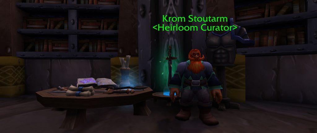 World of Warcraft: Der Kurator für Erbstücke in Eisenschmiede: Krom Starkarm