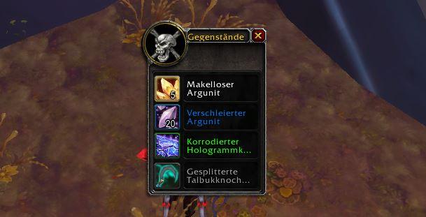 World of Warcraft Verschleierter Argunit aus Argus Schatztruhe
