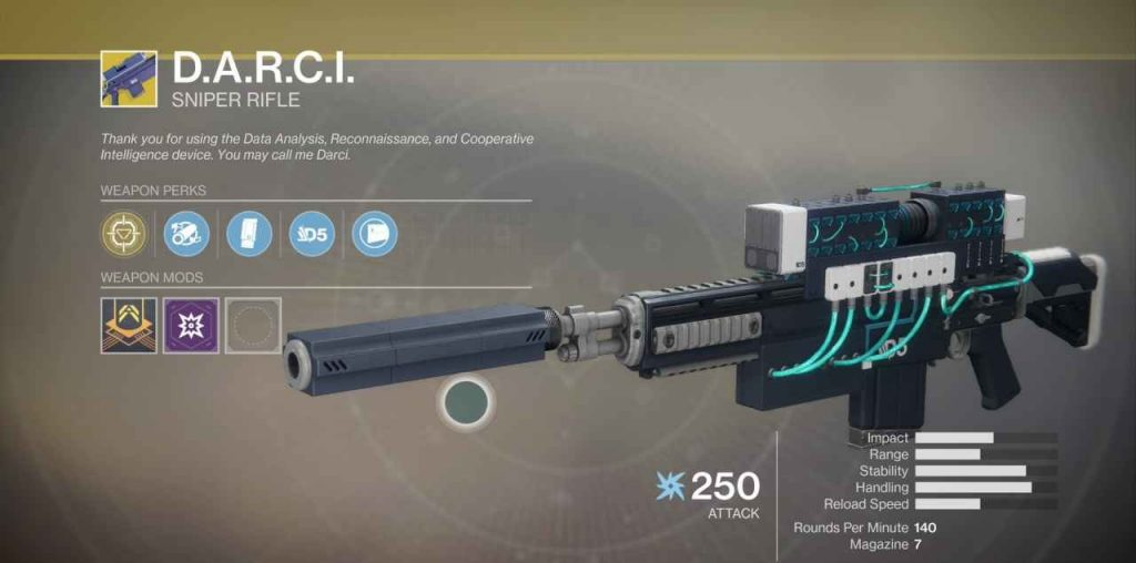 Destiny 2 DARCI Waffe
