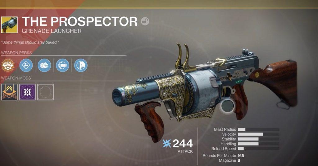 Destiny 2 Der Prospector Waffe