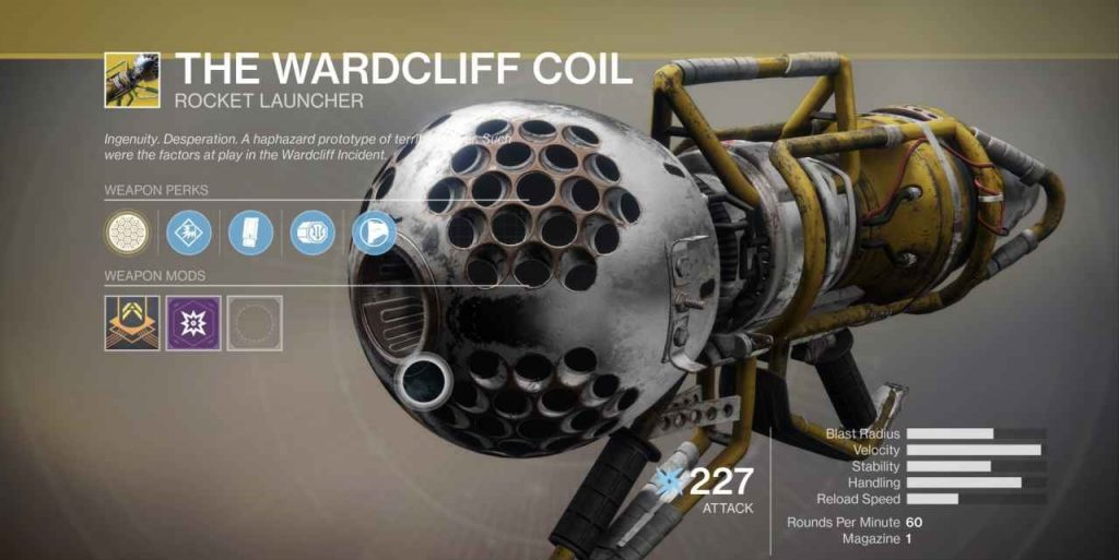 Destiny 2 Wadrcliff Coil - die Wardcliff Spule Waffe