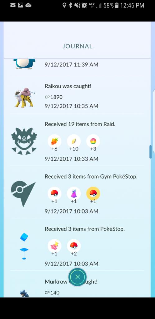Pokémon GO Tagebuch
