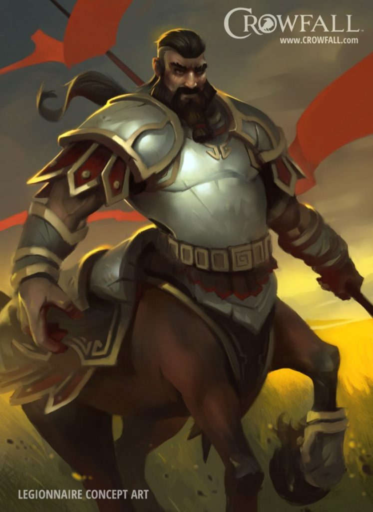 Crowfall male centaur legionnaire