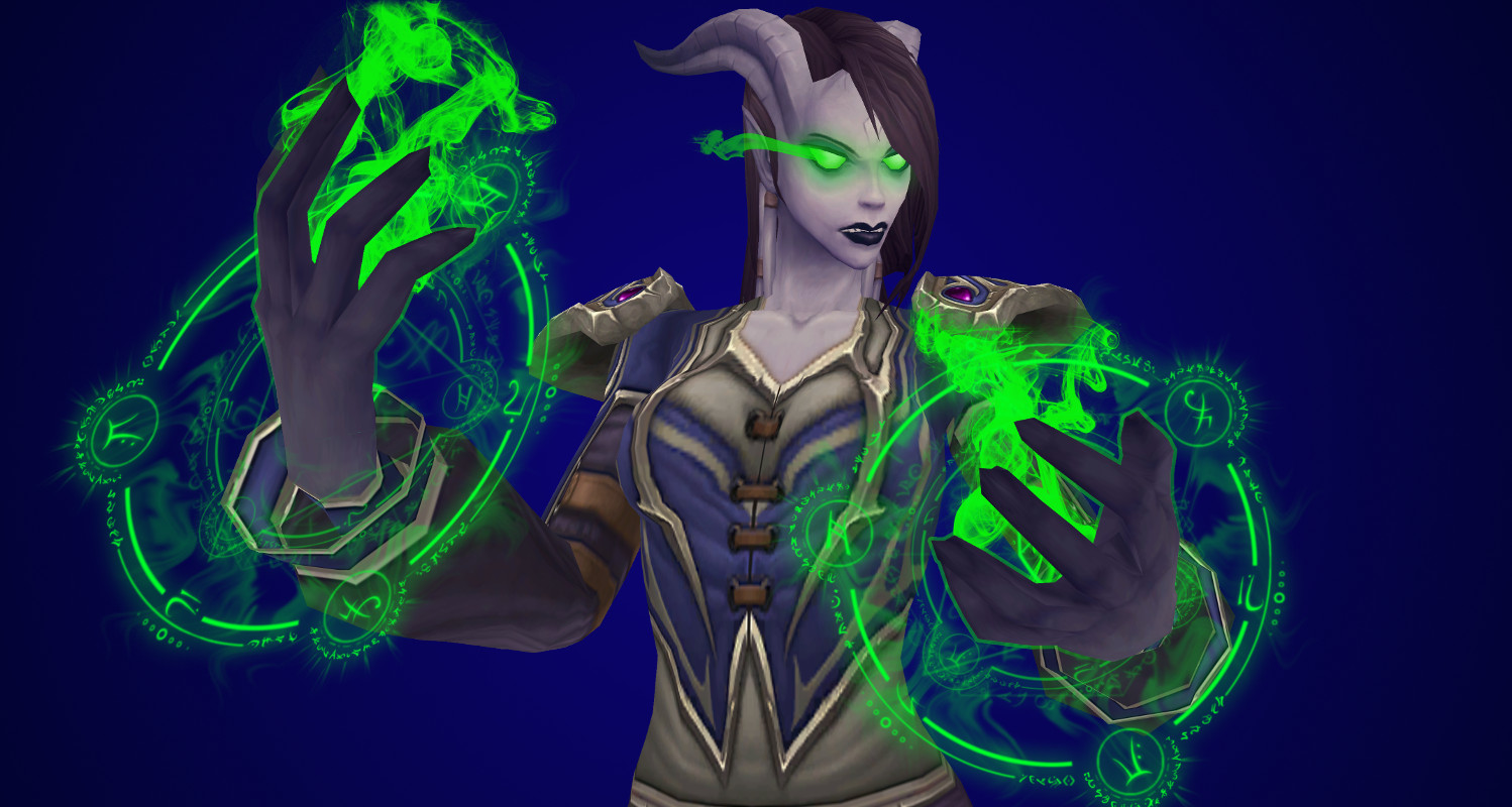 WoW Draenei Embracing the Fel