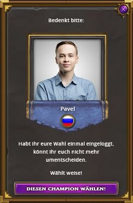 Hearthstone HCT Summer Championhip Choose Your Champion Pavel