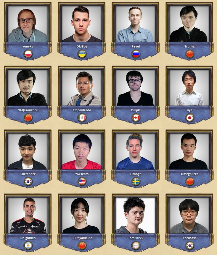 Hearthstone HCT Summer Championhip Choose Your Champion Roster