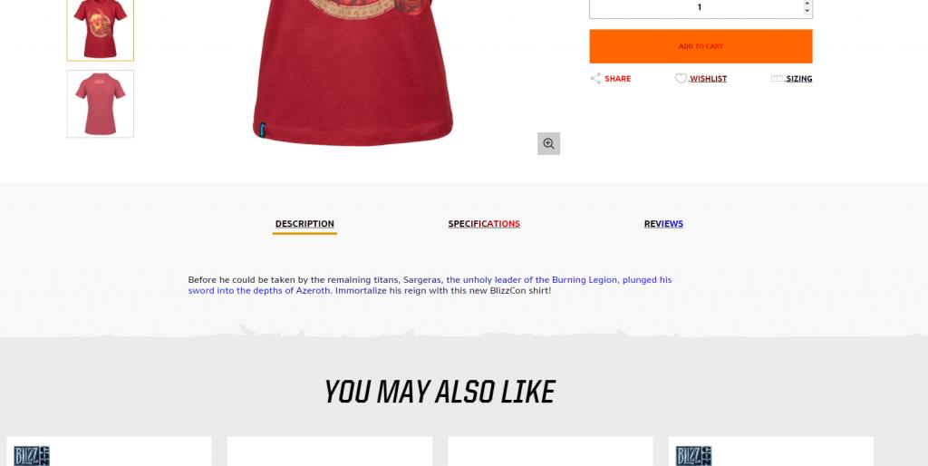 WoW Shop T Shirt Sargeras