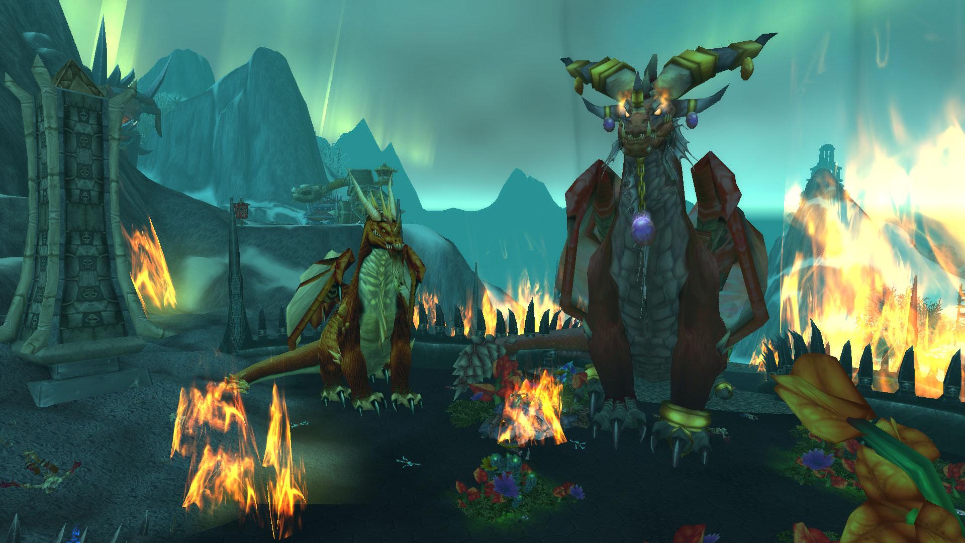 World of Warcraft Dragon Lore Krasus and Alexstrasza 2
