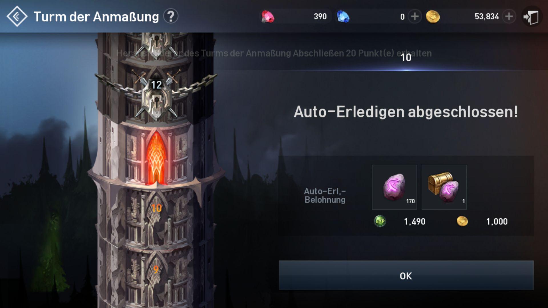 Lineage 2 Revolution Turm der Anmaßung