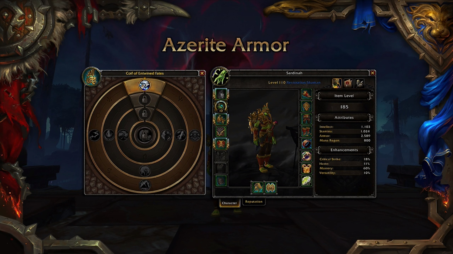 WoW Heart of Azeroth Azerite Armore