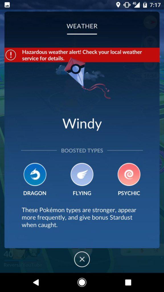 Pokémon GO Wind