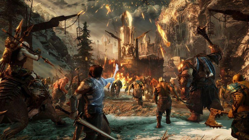 Herr der Ringe Schatten des Krieges Orc Feste Angriff