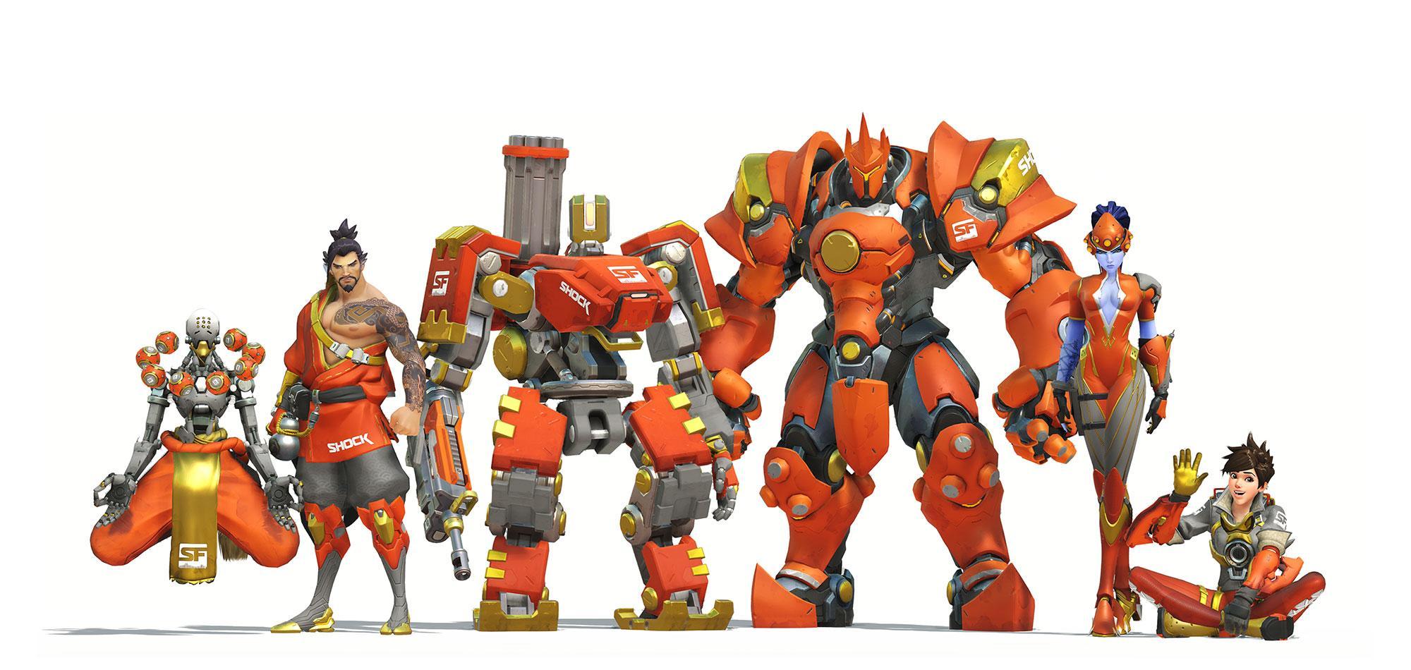 Overwatch League Orange Skins