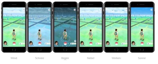 Pokemon Go wetter Update
