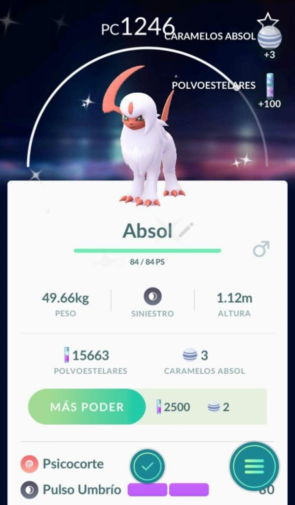 Pokémon GO Shiny Absol