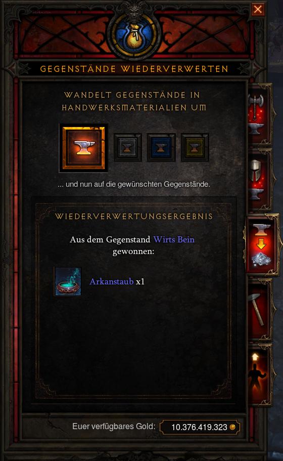 Diablo 3 Wirts Bein Niete