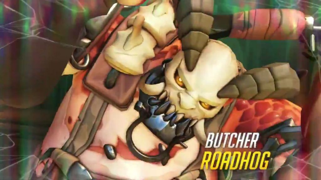 Overwatch Butcher Roadhog Widescreen closeup