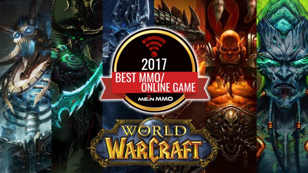 WoW MMO des Jahres 2017 mit Logo