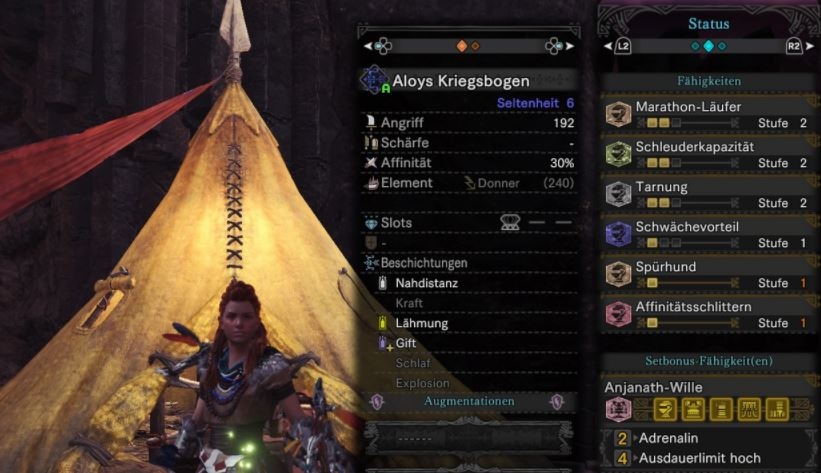 Aloy besucht Monster Hunter: World