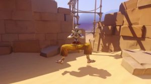 Overwatch Zenyatta walking spread legs tralala