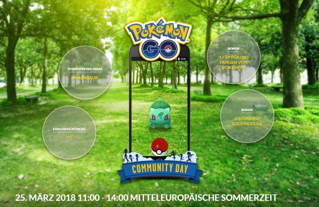 Pokémon GO Com Day 3 Boni