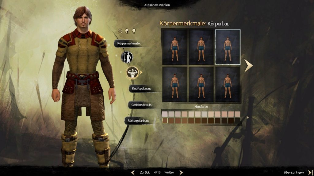 Guild Wars 2 Charaktererstellung